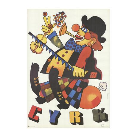 Marian Stachurski // Cyrk 1-Man-Band Clown // 1973 Offset Lithograph