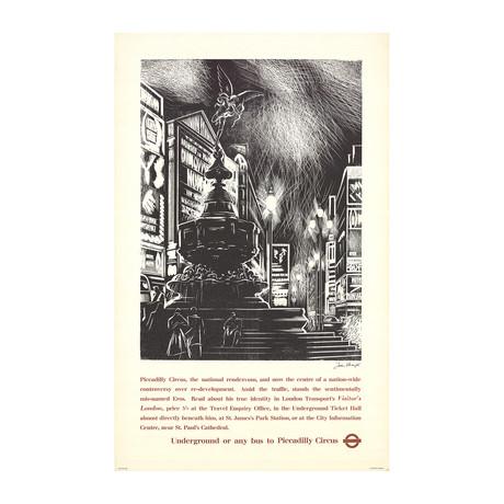 John Farleigh // Piccadilly Circus // 1957 Offset Lithograph