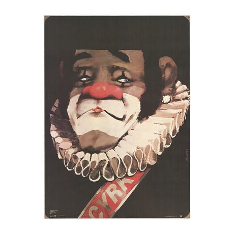 Waldemar Swierzy // Cyrk Clown // 1970 Offset Lithograph