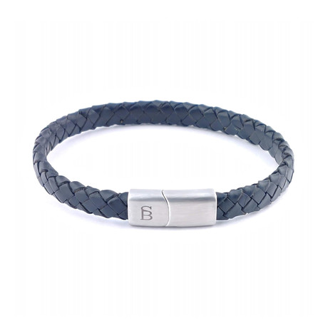 Leather Bracelet Riley // Black (S)