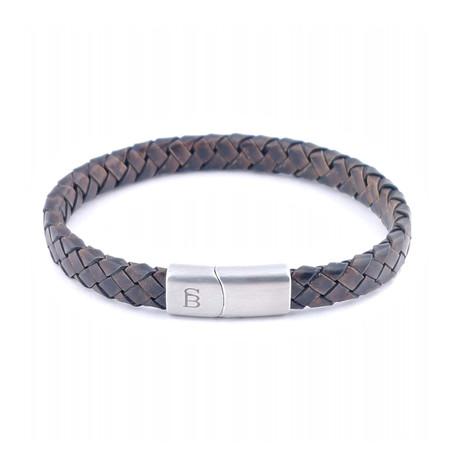 Leather Bracelet Riley // Vintage Brown (S)