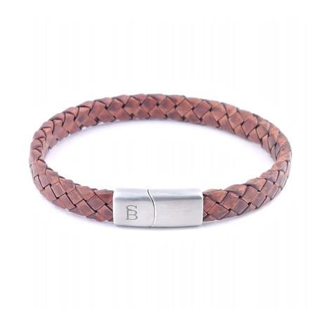 Leather Bracelet Riley // Caramel (S)