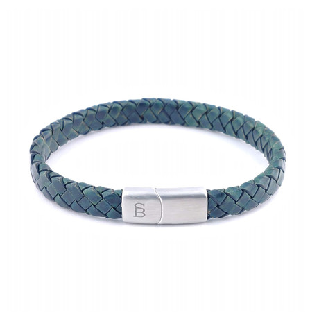 Leather Bracelet Riley // Dark Green (S)