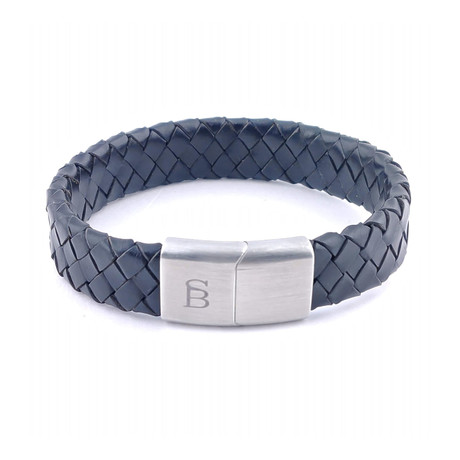 Leather Bracelet Preston // Matte Black (S)