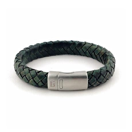 Leather Bracelet Cornall // Dark Green (S)