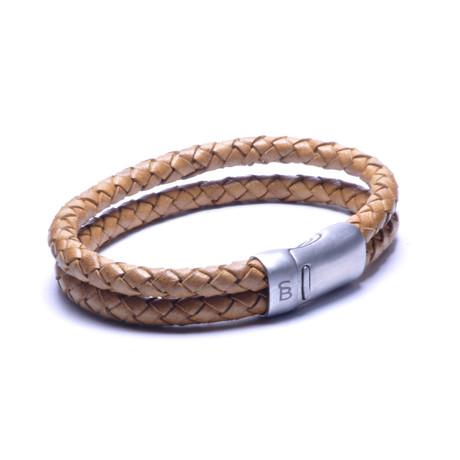 Leather Bracelet Sherman // Camel (S)