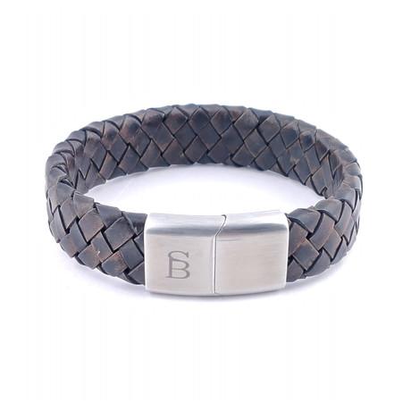 Leather Bracelet Preston // Vintage Brown (S)