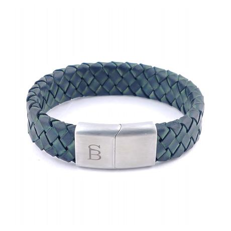 Leather Bracelet Preston // Matte Green (S)