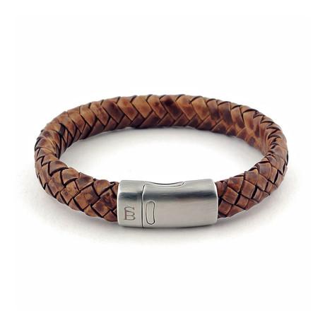 Leather Bracelet Cornall // Caramel (S)