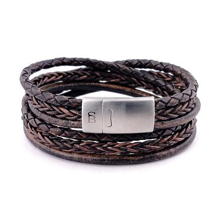 Leather Bracelet Bonacci // Dark Brown (S)