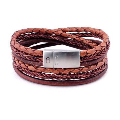 Leather Bracelet Bonacci // Caramel (S)