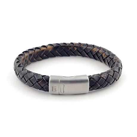 Leather Bracelet Cornall // Vintage Black (S)