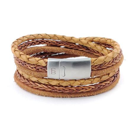 Leather Bracelet Bonacci // Camel (S)