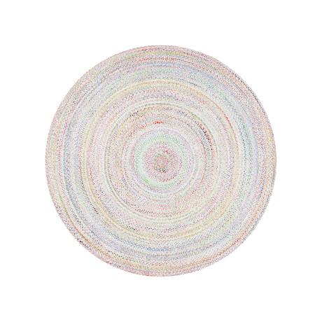 Fago Collection // Indoor + Outdoor Round Rug // Blue (5' Ø)