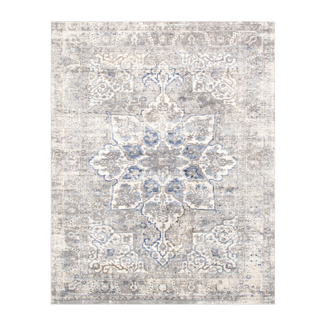 Modena Collection // Power Loom Area Rug // Light Gray (4'L x 6'W)