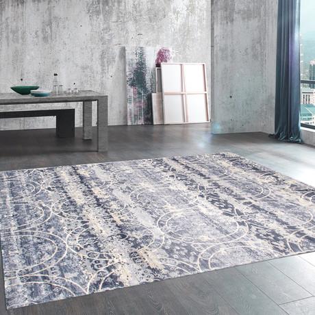 Eris Design // Power Loom Area Rug // Blue (2'L x 3'W)