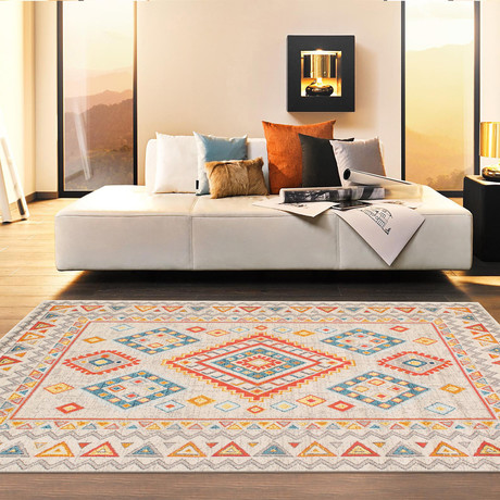Solstice Collection // Power Loom Area Rug // Beige v.2 // 9'L x 12'W