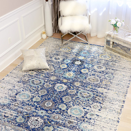 Chelsie Collection // Power Loom Area Rug // Navy (2'L x 3'W)