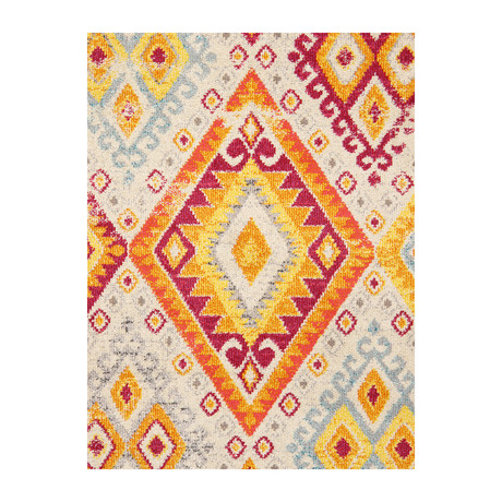 Solstice Collection // Power Loom Area Rug // Beige v.1 (2'L x 3'W)