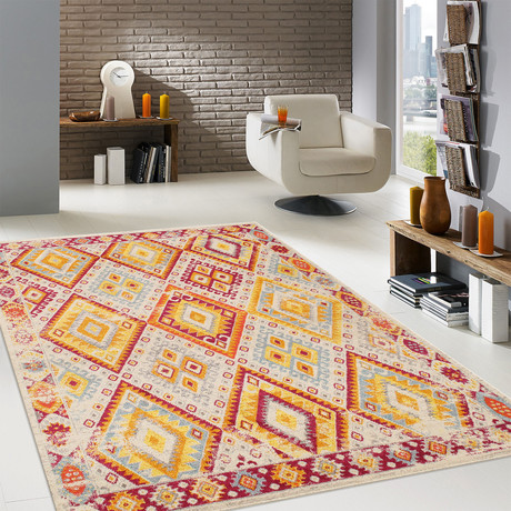 Solstice Collection // Power Loom Area Rug // Beige v.1 // 9'L x 12'W
