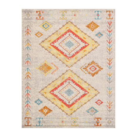 Solstice Collection // Power Loom Area Rug // Beige v.3 (2'L x 3'W)