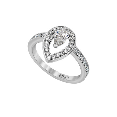 Fred of Paris Lovelight Platinum Diamond Ring III // Ring Size: 6
