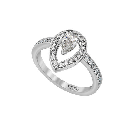 Fred of Paris Lovelight Platinum Diamond Ring III // Ring Size: 5.75