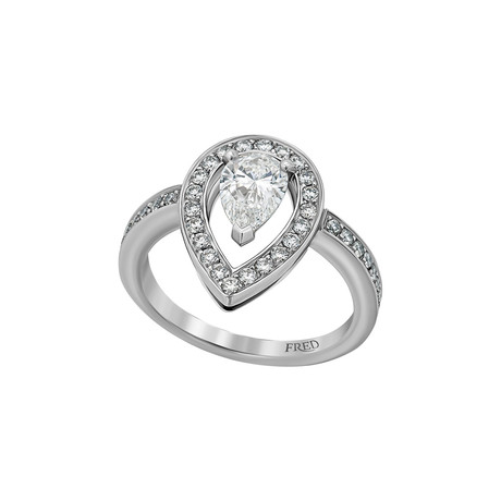Fred of Paris Lovelight Platinum Diamond Ring IV // Ring Size: 5.75