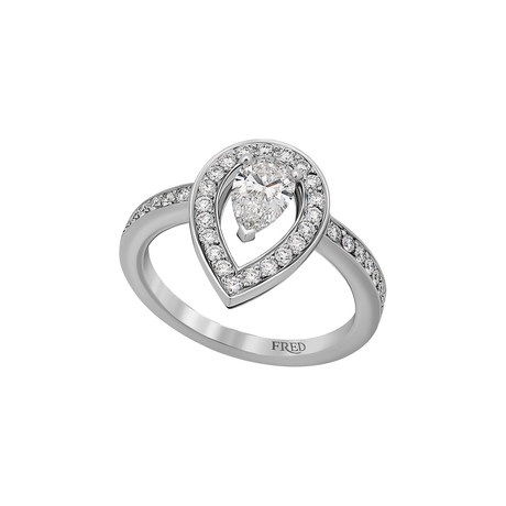 Fred of Paris Lovelight Platinum Diamond Ring IV // Ring Size: 6