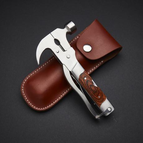 Mo-Tool Hammer // Wood Inlay // Brown