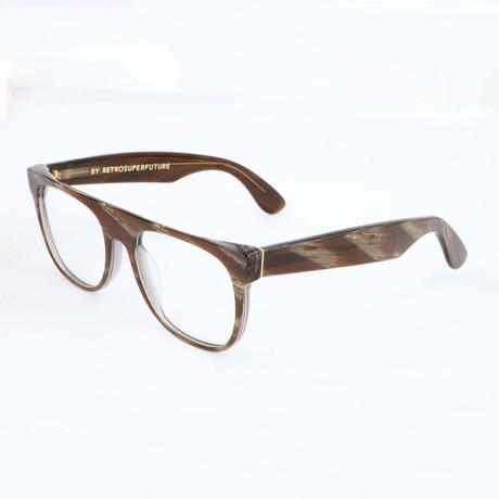 Unisex Flat Top Optical Frames // Brown