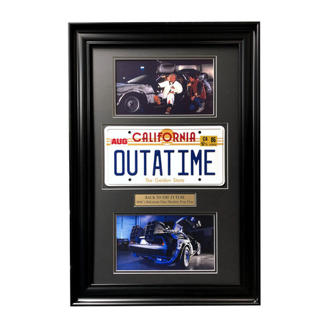 """Back to the Future"" DeLorean // Movie Car License Plate // Framed Collage"