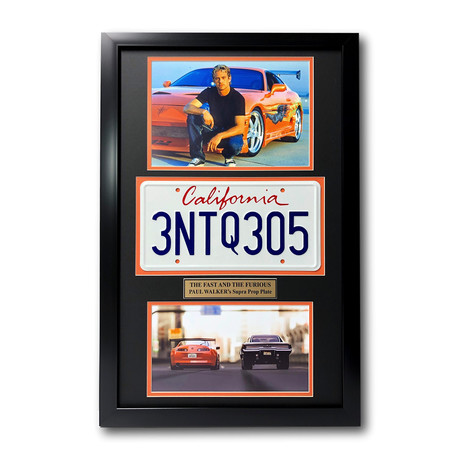 """Fast & The Furious"" Paul Walker // Movie Car License Plate // Framed Collage"