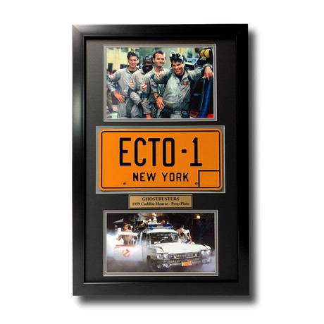 Ghostbusters // Cadillac Hearse License Plate // Framed Collage