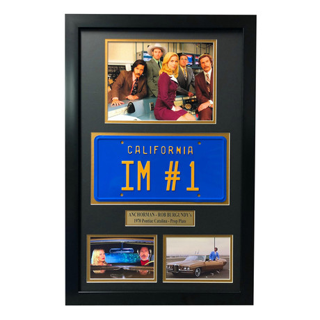 Anchorman // Ron Burgundy Movie Car License Plate // Framed Collage