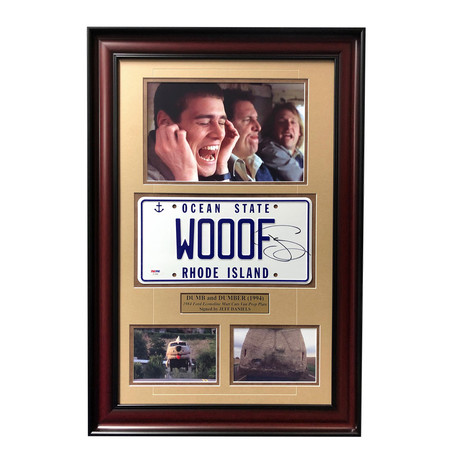 """Dumb & Dumber"" Jeff Daniels Mutt Cutts // Signed Movie Car License Plate // Framed Collage"