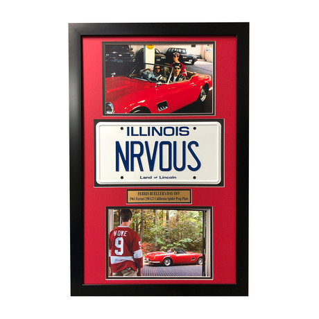 """Ferris Bueller's Day Off"" Matthew Broderick // Movie Car License Plate // Framed Collage"