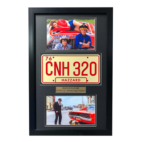 """Dukes of Hazzard"" Dodge Charger  General Lee // Movie Car License Plate // Framed Collage"