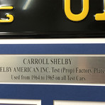 Ford VS Ferrari // Carroll Shelby Ford GT350 GT40 // Replica License Plate Display