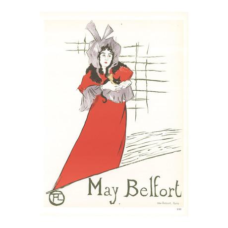 Henri de Toulouse-Lautrec // May Belfort // 1966 Lithograph