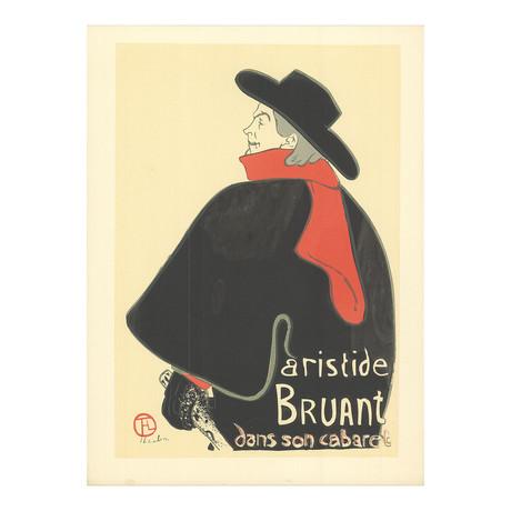 Henri de Toulouse-Lautrec // Aristide Bruant dans son cabaret // 1954 Lithograph