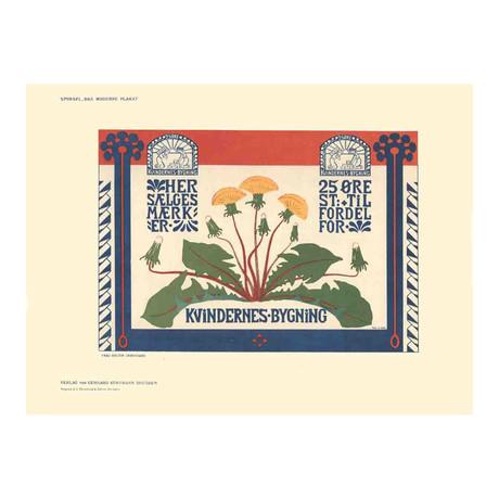 Frau Holten Skonsgaard // Kvindernes Bygning // 1897 Lithograph