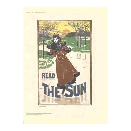 Louis J. Rhead // Read The Sun // 1897 Lithograph