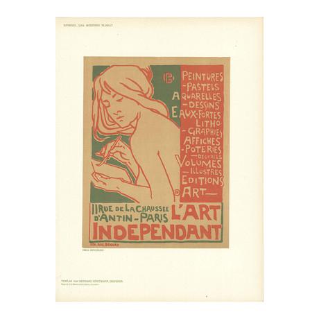 Emile Berchmans // L'Art Independant // 1897 Lithograph