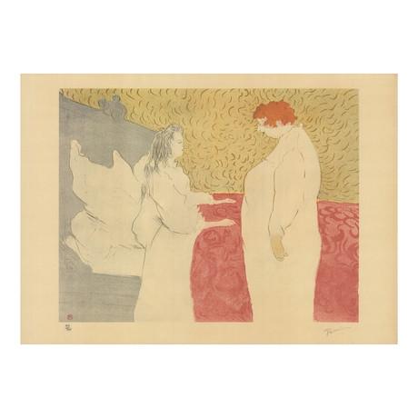 Henri de Toulouse-Lautrec // Femme Au Lit // 1973 Lithograph