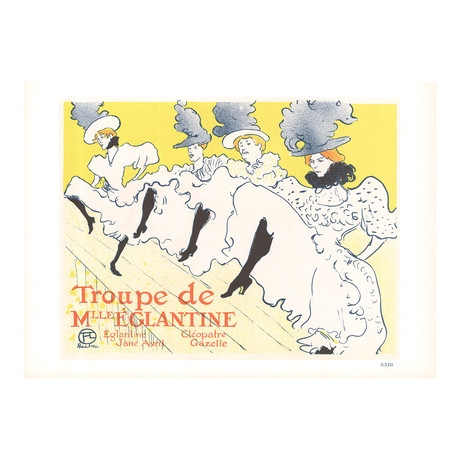 Henri de Toulouse-Lautrec // Troupe de Mlle Eglantine // 1966 Lithograph