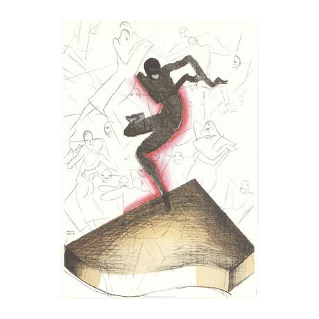 Paul Colin // Sur le Piano // 1995 Offset Lithograph