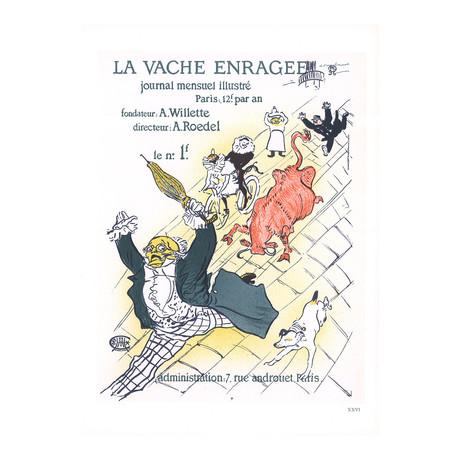 Henri de Toulouse-Lautrec // La Vache Enragee // 1966 Lithograph
