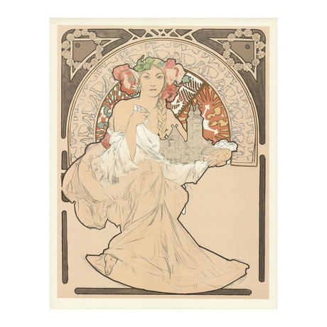 Alphonse Mucha // Joli protecteur // Lithograph