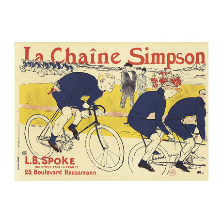 Henri de Toulouse-Lautrec // La chaîne Simpson // 1976 Lithograph